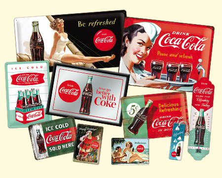 Coca-Cola Collage von Nostalgic-Art