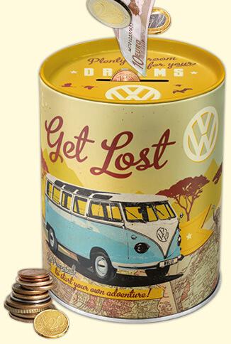 spardose blechdose Merchandise vintage retro volkswagen vw bulli