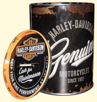 spardose blechdose Merchandise vintage retro harley davidson