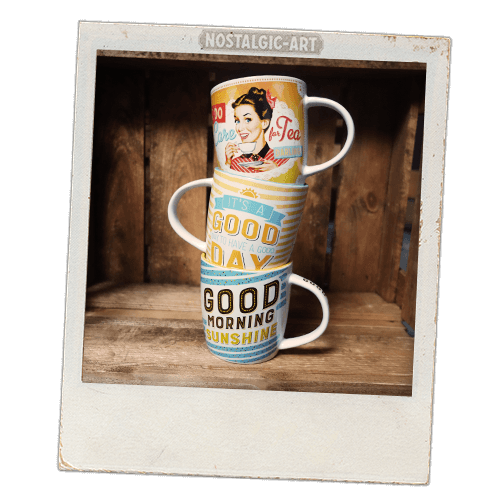 Tasse Keramiktasse retro vintage nostalgie