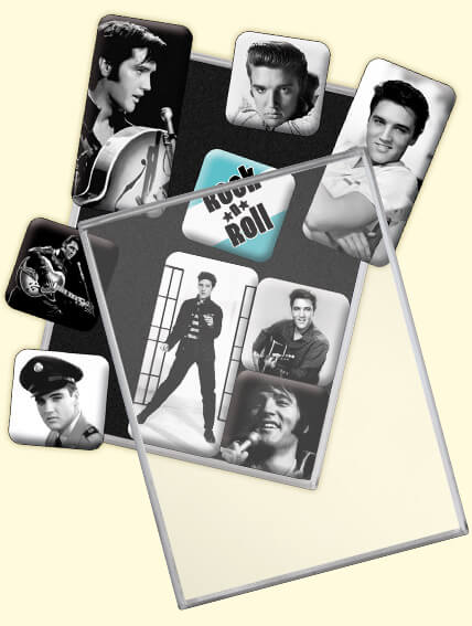 Magnet set vintage retro nostalgie elvis king
