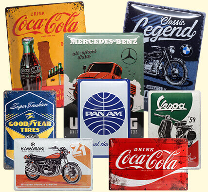tin sign retro vintage nostalgic