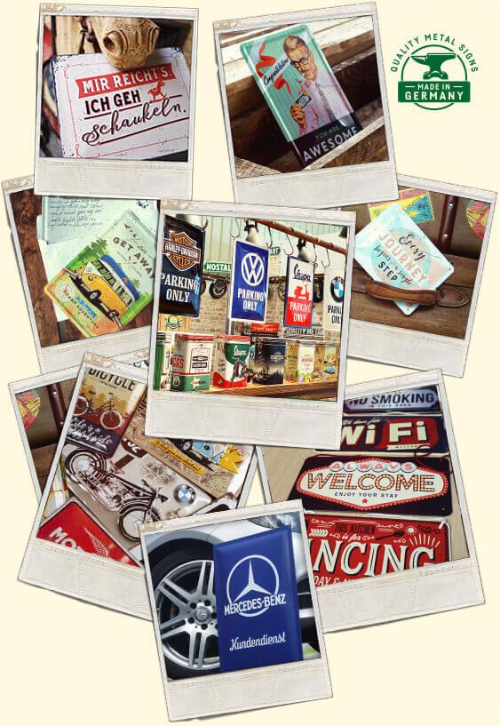 Retro Blechschild vintage metallschild nostalgie